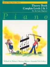 Alfred's Basic Piano Library Complete Theory Book (for the later beginner) v. 2&3 . Piano . Var