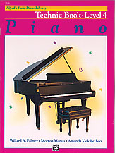 Alfred's Basic Piano Library Technic Book v.4 . Piano . Various
